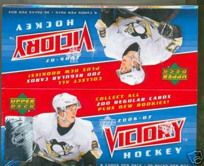 2006-07 Upper Deck Victory Hockey Factory Sealed Box (1st Hockey Product of 2006-07)(36 Packs Per Box) (2006, 2007)(Actual Rookies in Packs)