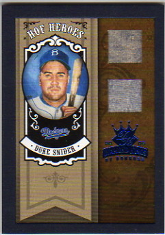 2005 Diamond Kings HOF Heroes Materials Framed Blue #6 Duke Snider Jsy-Pants/25