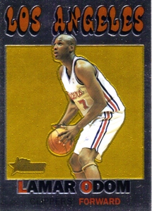 2000-01 Topps Heritage Retrofractors #16 Lamar Odom