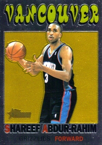 2000-01 Topps Heritage Retrofractors #23 Shareef Abdur-Rahim