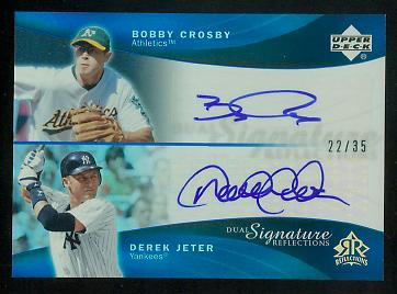 2005 Reflections Dual Signatures Blue #BCDJ Bobby Crosby/Derek Jeter EXCH