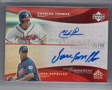 2005 Reflections Dual Signatures Red #CTJC Charles Thomas/Jose Capellan