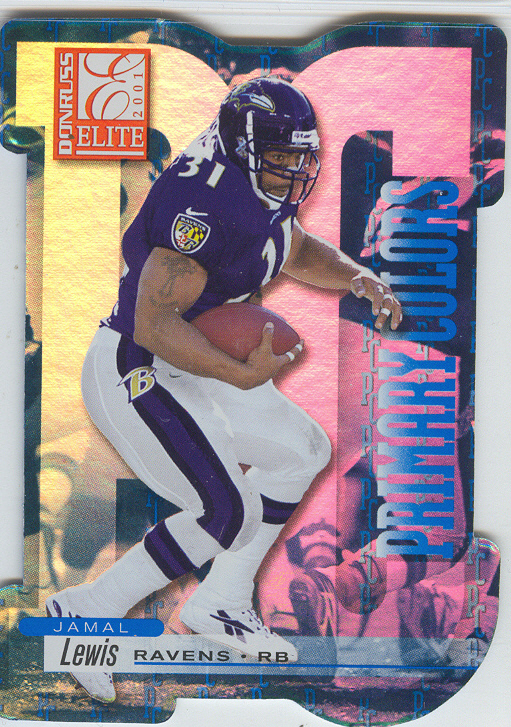 2001 Donruss Elite Primary Colors Die Cuts Blue #PC9 Jamal Lewis