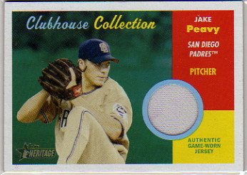 2006 Topps Heritage Clubhouse Collection Relics #JP Jake Peavy Jsy J