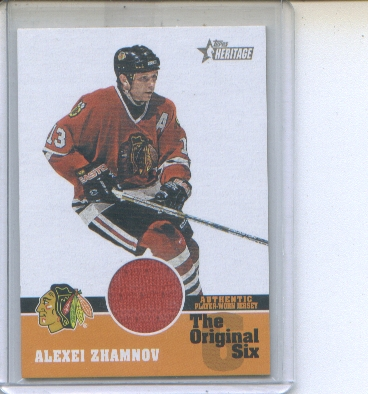 2000-01 Topps Heritage Original Six Relics #OSJAZ Alexei Zhamnov J