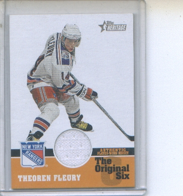 2000-01 Topps Heritage Original Six Relics #OSJTF Theo Fleury J