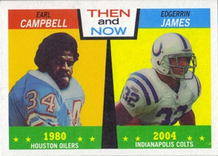 2005 Topps Heritage Then and Now #TN5 Earl Campbell/Edgerrin James