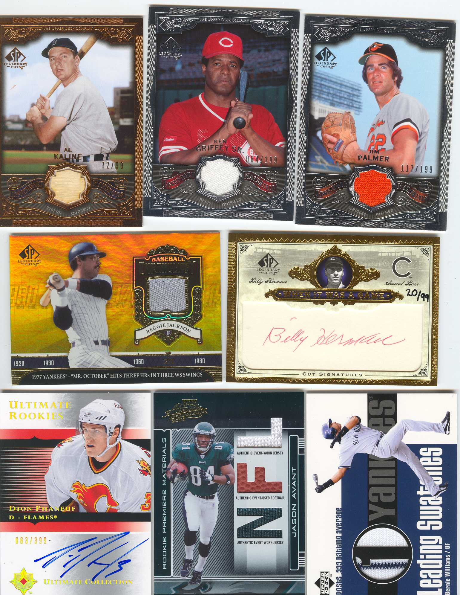 2006 SP Legendary Cuts When It Was A Game Cuts #HE Billy Herman/99