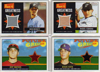 2005 Bowman Heritage Pieces of Greatness Relics #MC Miguel Cabrera Bat A