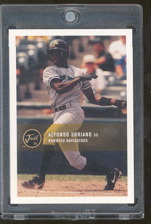 2000 Just 2K Minor League #193 Alfonso Soriano RC Rookie 40-40