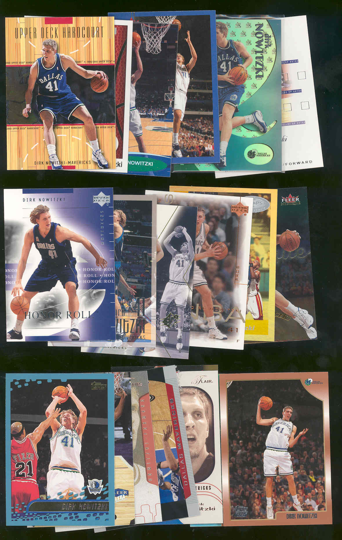 (20) Assorted Dirk Nowitzki Dallas Mavericks NBA Cards All Different w/ 1998 Rookie Low Shipping
