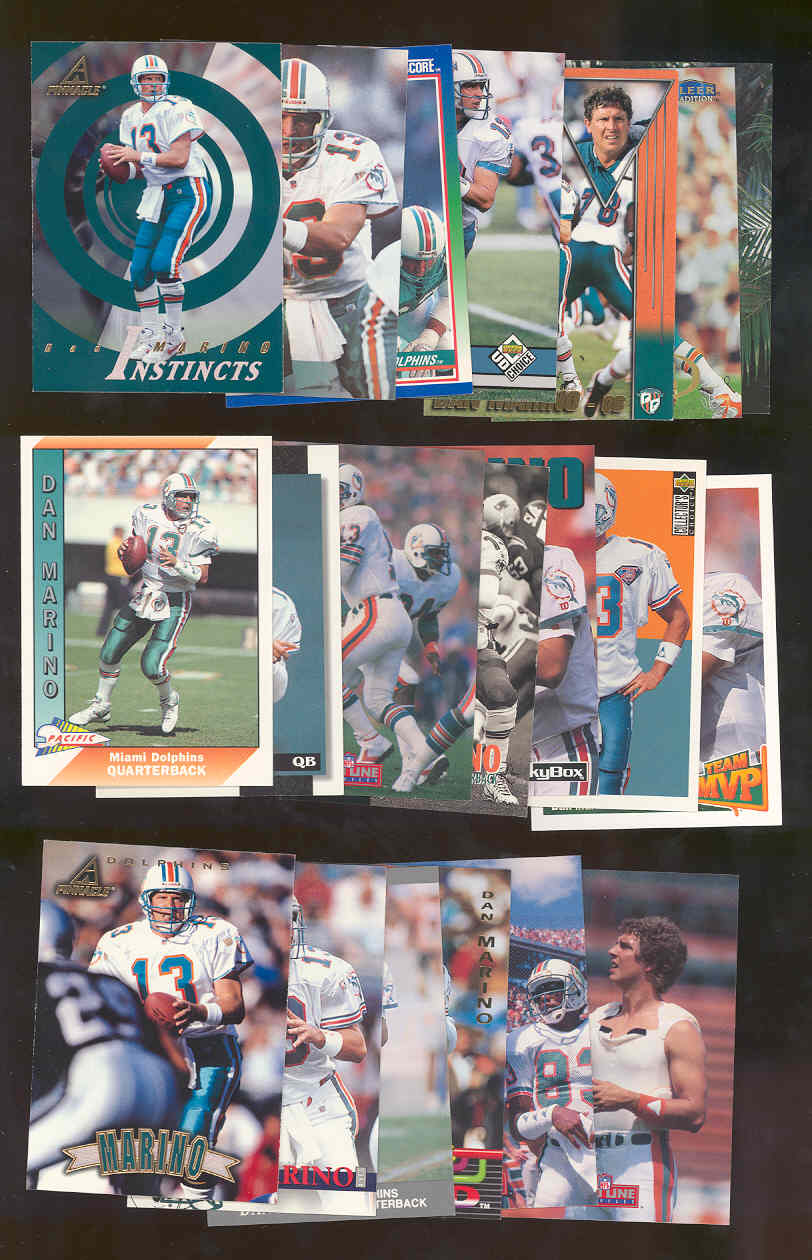 (20) Assorted / Mixed Dan Marino Dolphins NFL Cards All Different  Low Shipping