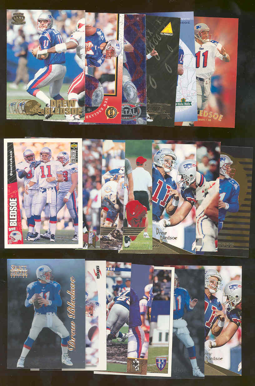 (20) Assorted / Mixed Drew Bledsoe Patriots NFL Cards All Different  Low Shipping
