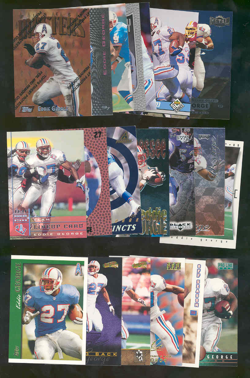 (20) Assorted / Mixed Eddie George NFL Cards All Different  Low Shipping
