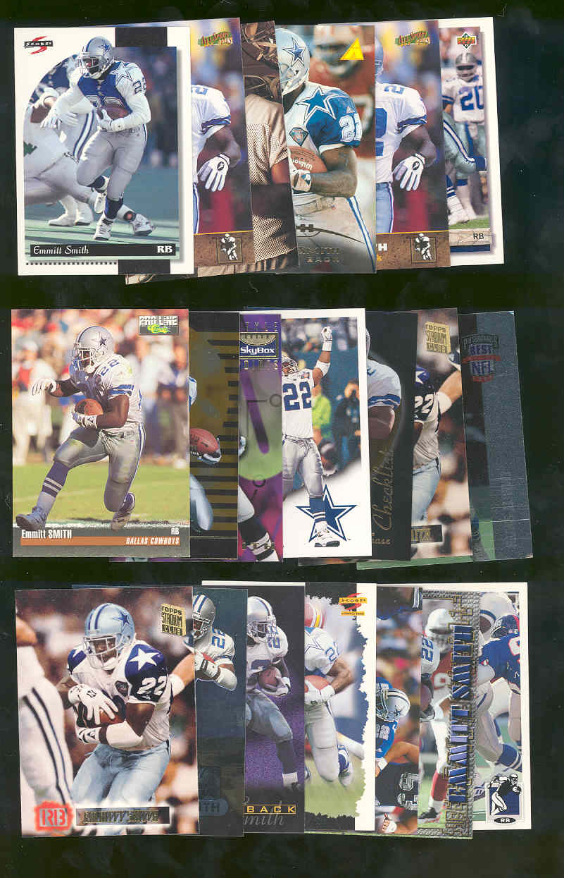 (20) Assorted / Mixed Emmitt Smith Cowboys NFL Cards All Different  Low Shipping