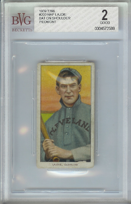 1909-11 T206 #271 Nap Lajoie with Bat