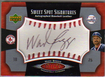 2005 Sweet Spot Signatures Red Stitch Black Ink #WB Wade Boggs/175