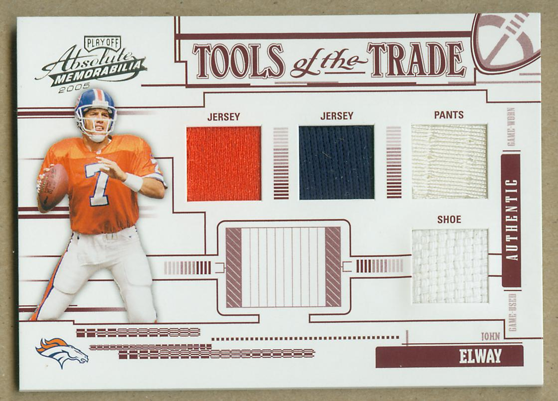 2005 Absolute Memorabilia Tools of the Trade Material Quad Red #47 John Elway