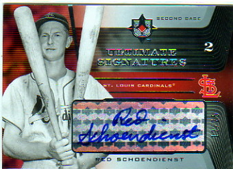 2004 Ultimate Collection Signatures #RS Red Schoendienst/25