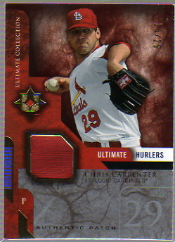 2005 Ultimate Collection Hurlers Patch #CA Chris Carpenter/25