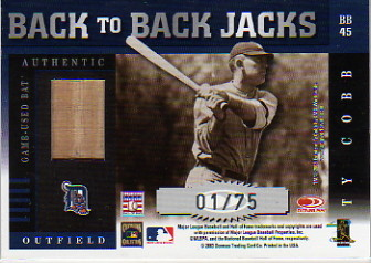 2003 Donruss Elite Back to Back Jacks #45 Rickey Henderson/Ty Cobb