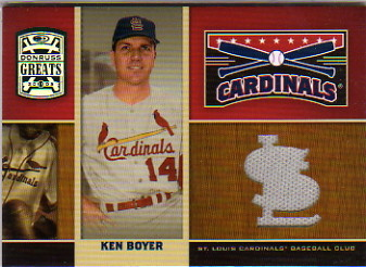 2005 Donruss Greats Redbirds Material #7 Ken Boyer Jsy T3