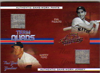 2005 Absolute Memorabilia Team Quads Swatch Single #16 New York Yanks Retro/100