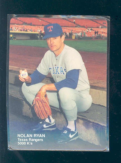 1990 Mother's Ryan #4 Nolan Ryan/(Holding ball/with 5,000 K's)