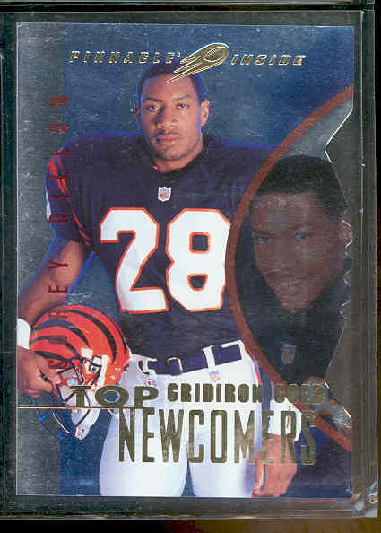 1997 Pinnacle Inside Gridiron Gold Corey Dillon Patriots Rookie Book Value $50