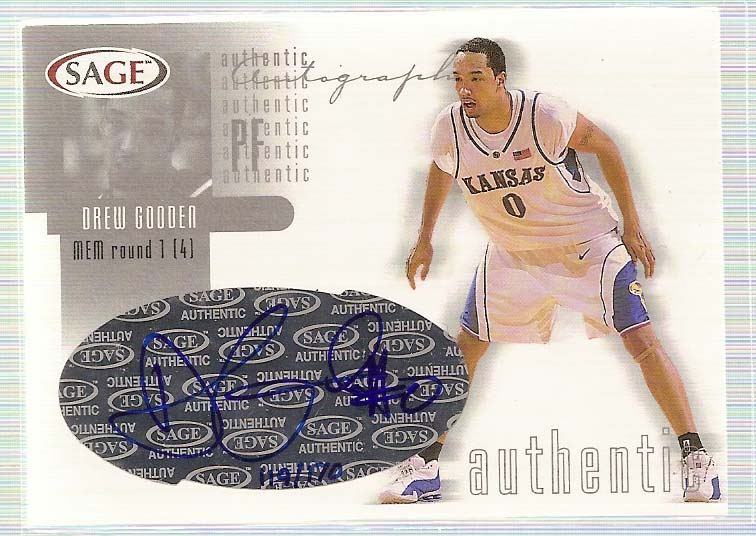 2002 SAGE Autographs Silver #A13 Drew Gooden/170
