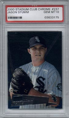 2000 Stadium Club Chrome Baseball #237 Jason Stumm Draft Pick Rookie PSA Gem Mint 10