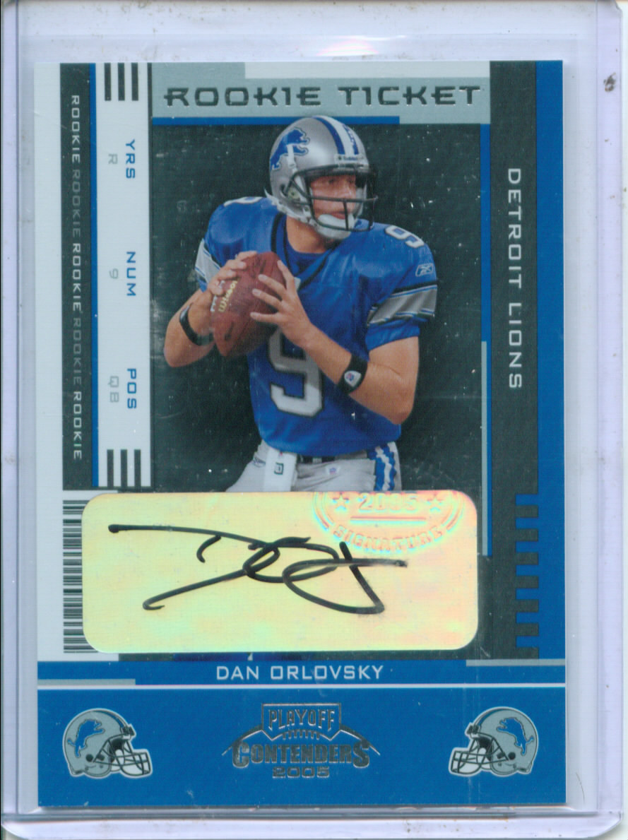 2005 Playoff Contenders #127 Dan Orlovsky AU RC