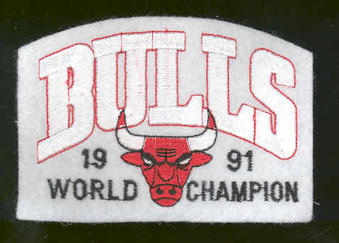 1991 Chicago Bulls World Champion Embroidered Patch 4