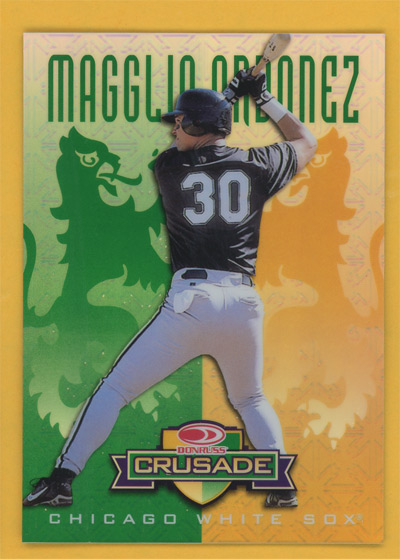1998 Leaf Rookies and Stars Crusade Update Green #130 Magglio Ordonez front image