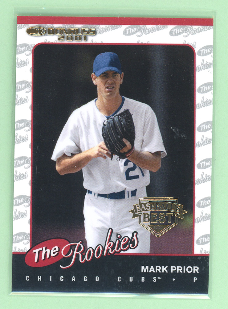 2001 Donruss Baseball's Best Gold Rookies #R87 Mark Prior