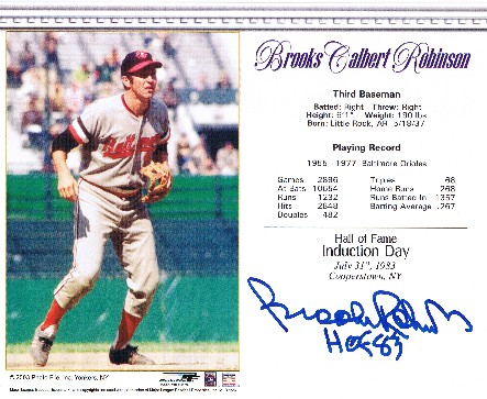 Brooks Robinson Autographed 8x10 Photo #6