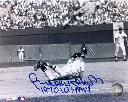 Brooks Robinson Autographed 1970 WS 8x10 Photo