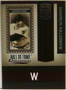 2005 Donruss Greats Hall of Fame Souvenirs #18 Harmon Killebrew