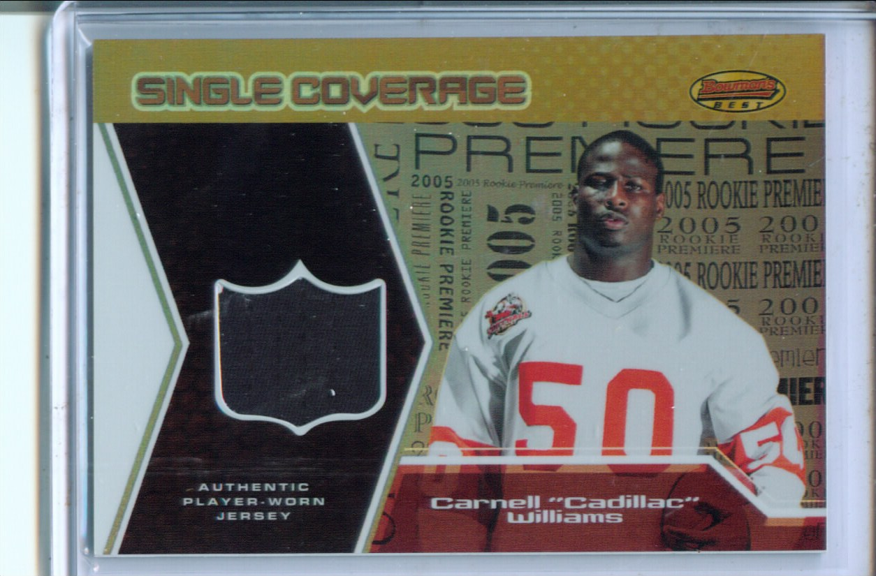 2005 Bowman's Best Single Coverage Jerseys #SCRCW Cadillac Williams