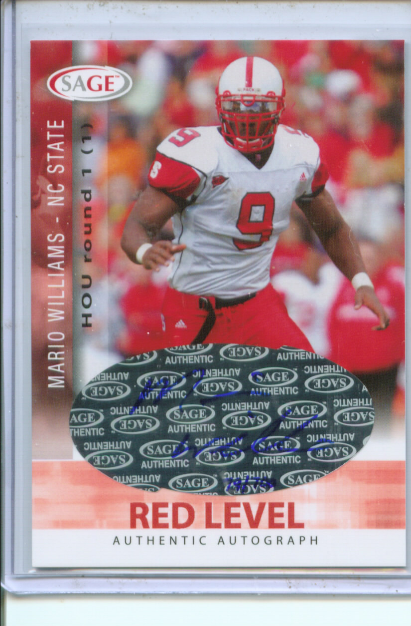 2006 SAGE Autographs Red #A56 Mario Williams/700