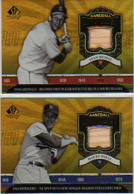 2006 SP Legendary Cuts Baseball Chronology Materials #SM Stan Musial Bat