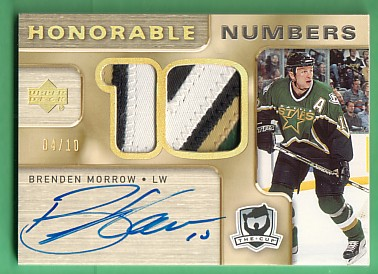 2005-06 The Cup Honorable Numbers #HNMW Brenden Morrow/10