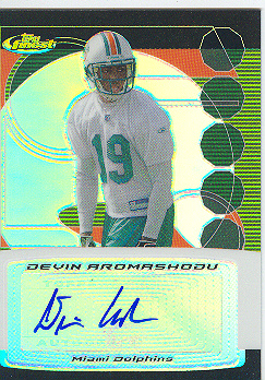 2006 Finest DEVIN AROMASHODU Autograph card FA-DA