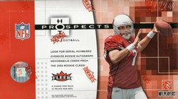 2006 FLeer Hot Prospects NFL Football Sports Trading Cards Box (1 Autographed Rookie Card + 1 Serial Numbered Rookie Autograph Materials Card per box, on average + much more!)