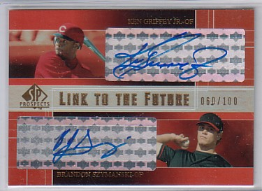 2004 SP Prospects Link to the Future Dual Autographs #GS Ken Griffey Jr./B.J. Szymanski