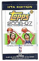 2006-07 Topps HTA jumbos basketball factory-sealed pack box - IVERSON, JOHN WOODEN, MORRISON, SHAQ, WADE autographs