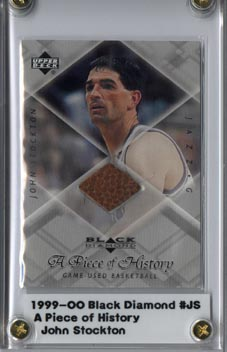 1999-00 Black Diamond A Piece of History #JS John Stockton H/R