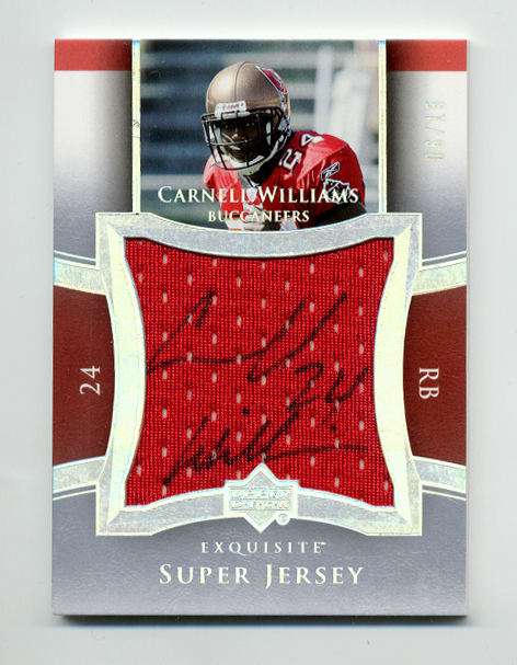 2005 Exquisite Collection Super Jersey Autographs #SJSCW Cadillac Williams