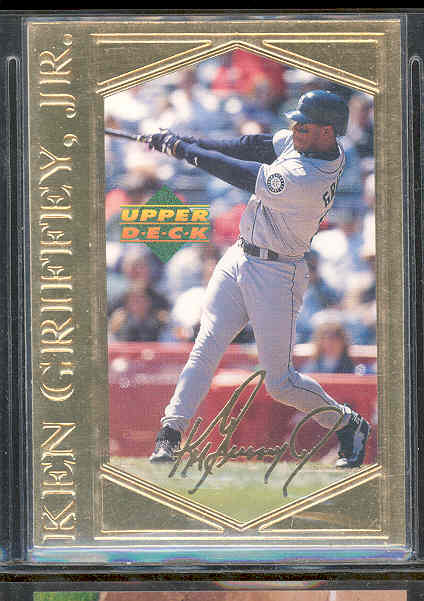1996 Upper Deck 22kt Gold Photo Card Ken Griffey Jr RARE