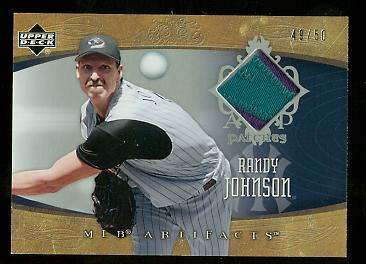 2005 Artifacts Patches #RJ Randy Johnson/50